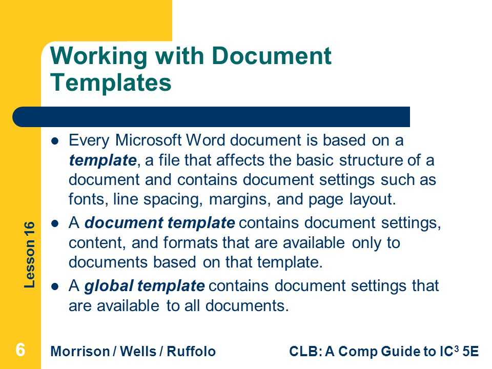 Working with Document Templates