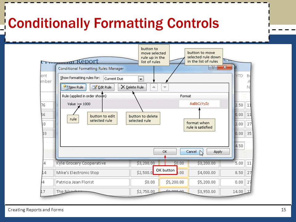 Conditionally Formatting Controls