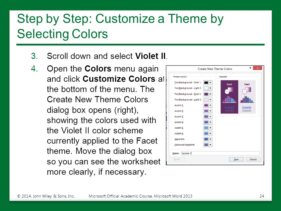 Step by Step: Customize a Theme by Selecting Colors