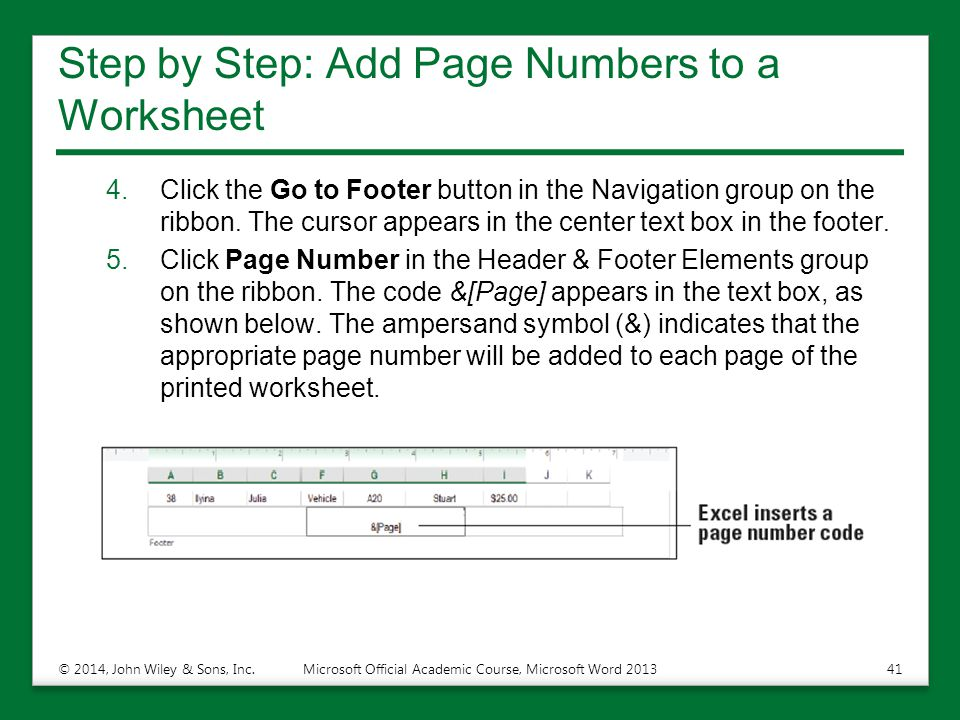 Step by Step: Add Page Numbers to a Worksheet