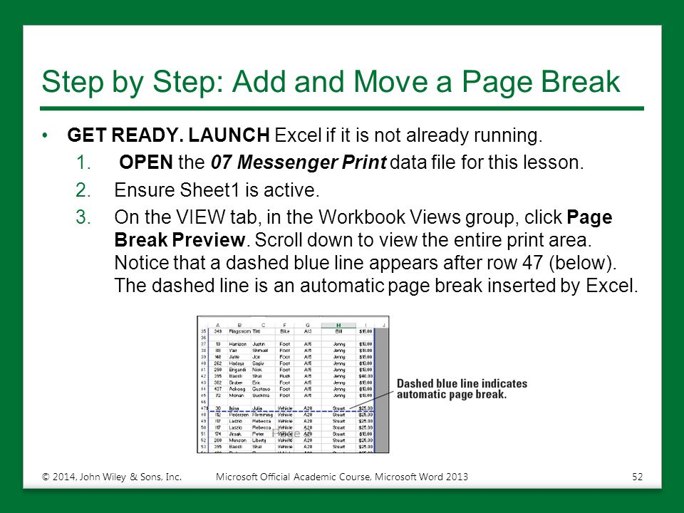 Step by Step: Add and Move a Page Break