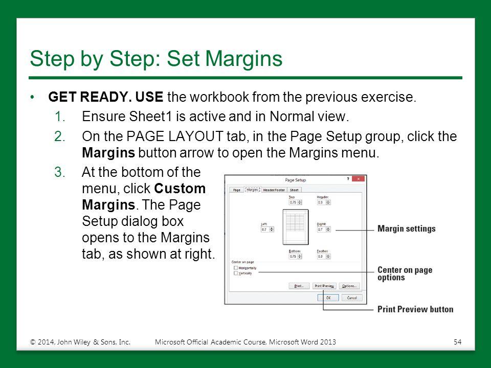 Step by Step: Set Margins
