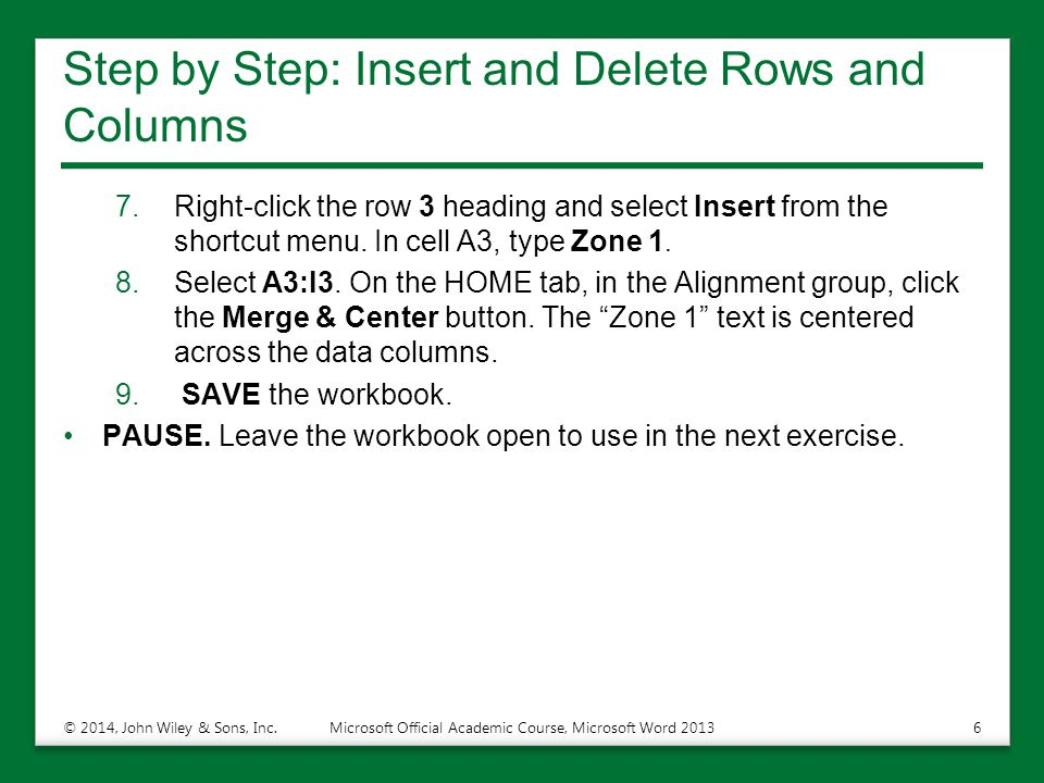 Step by Step: Insert and Delete Rows and Columns