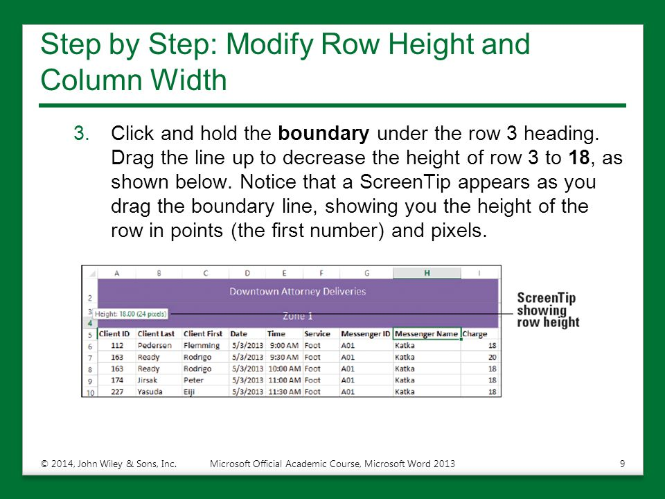 Step by Step: Modify Row Height and Column Width