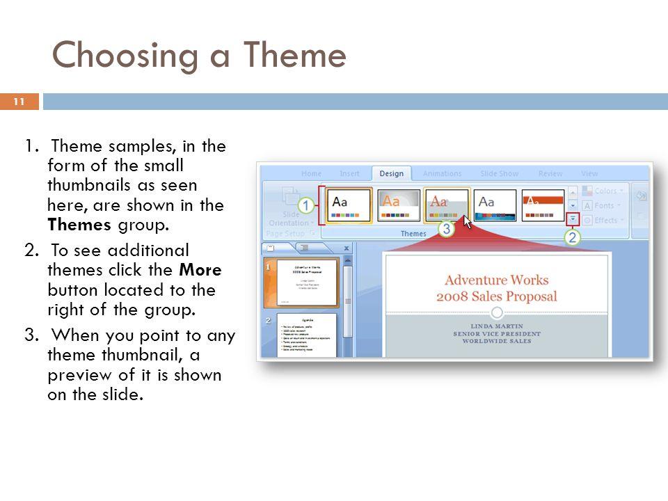 Choosing a Theme