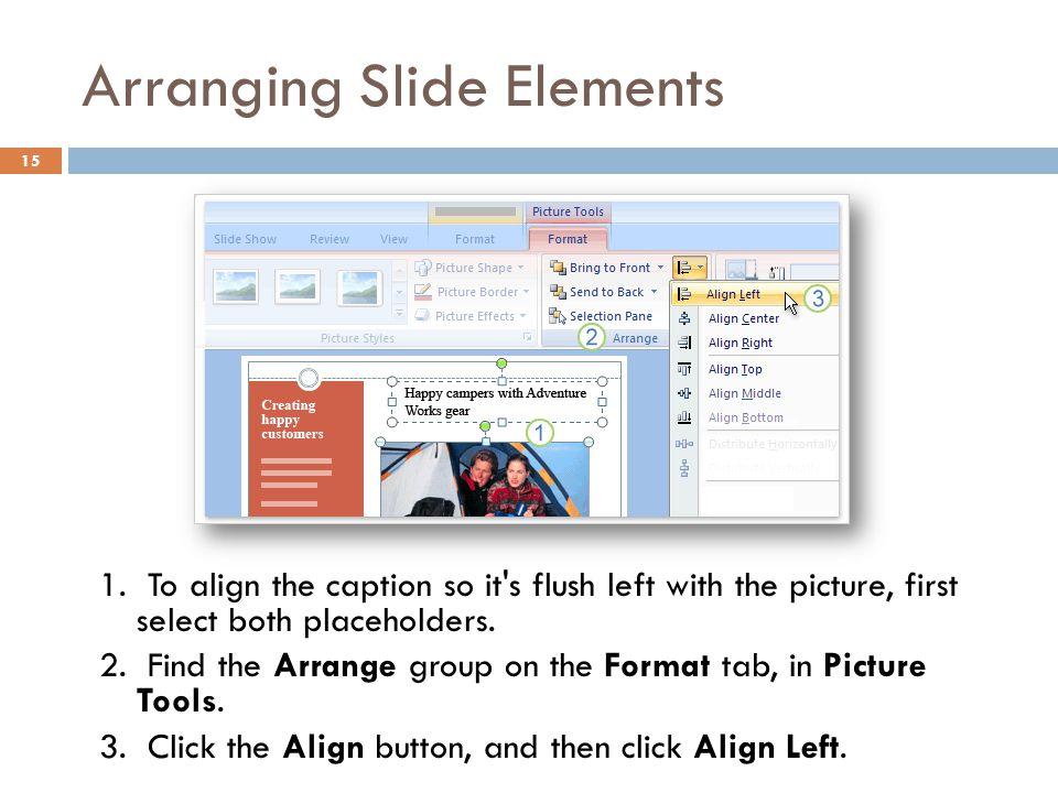 Arranging Slide Elements