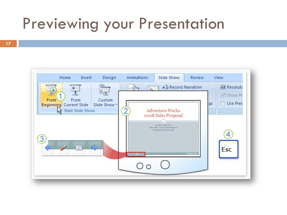 Previewing your Presentation