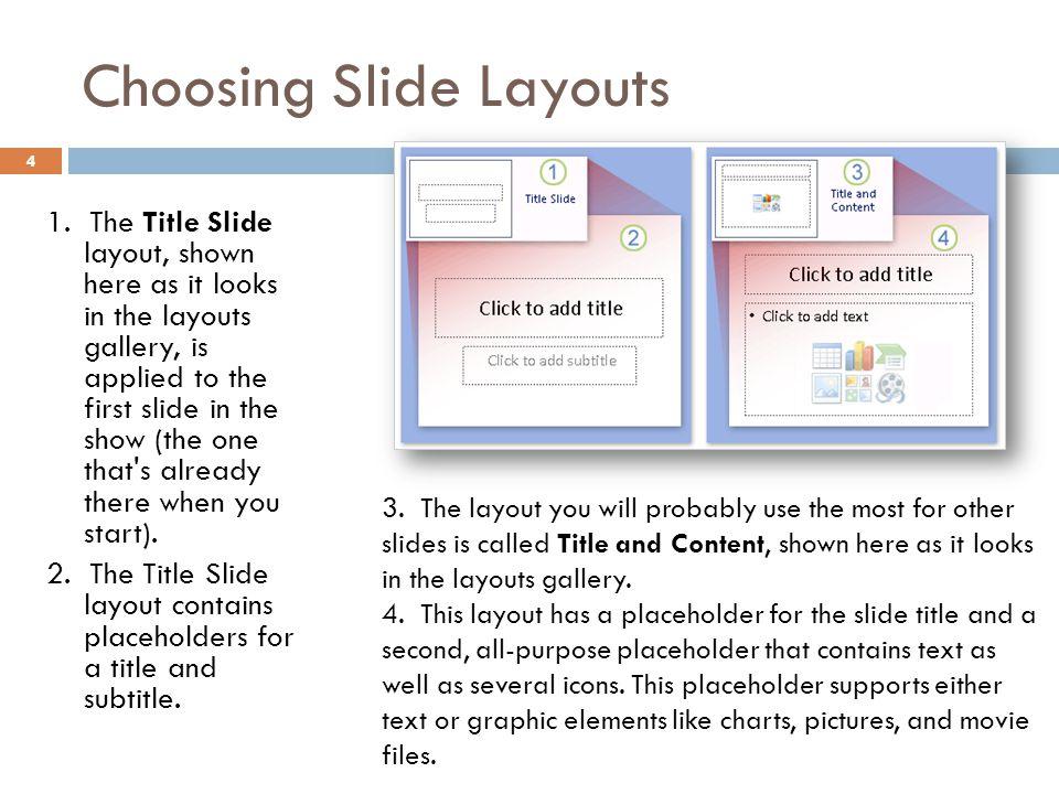 Choosing Slide Layouts