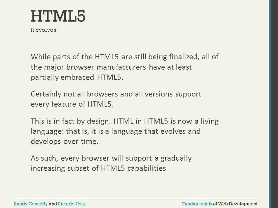 HTML5 It evolves.