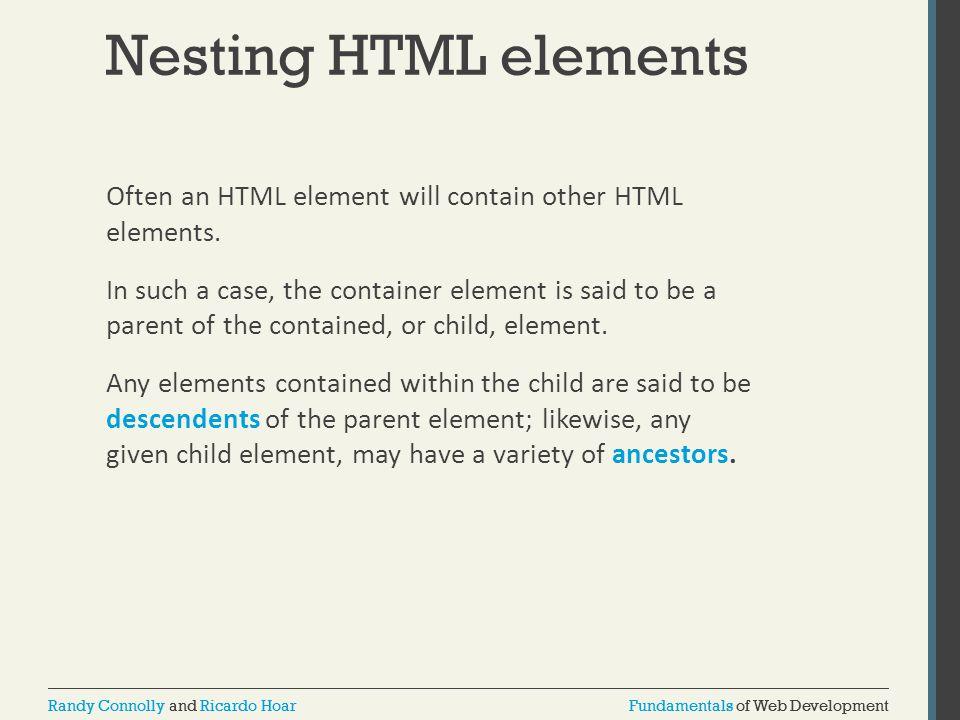 Nesting HTML elements