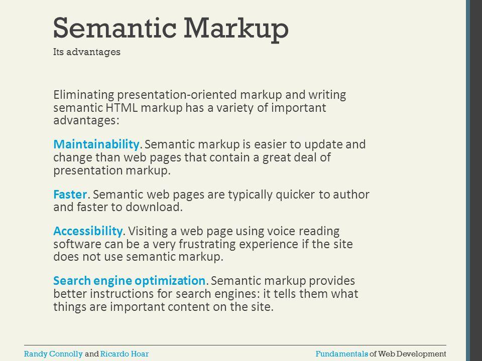 Semantic Markup Its advantages.