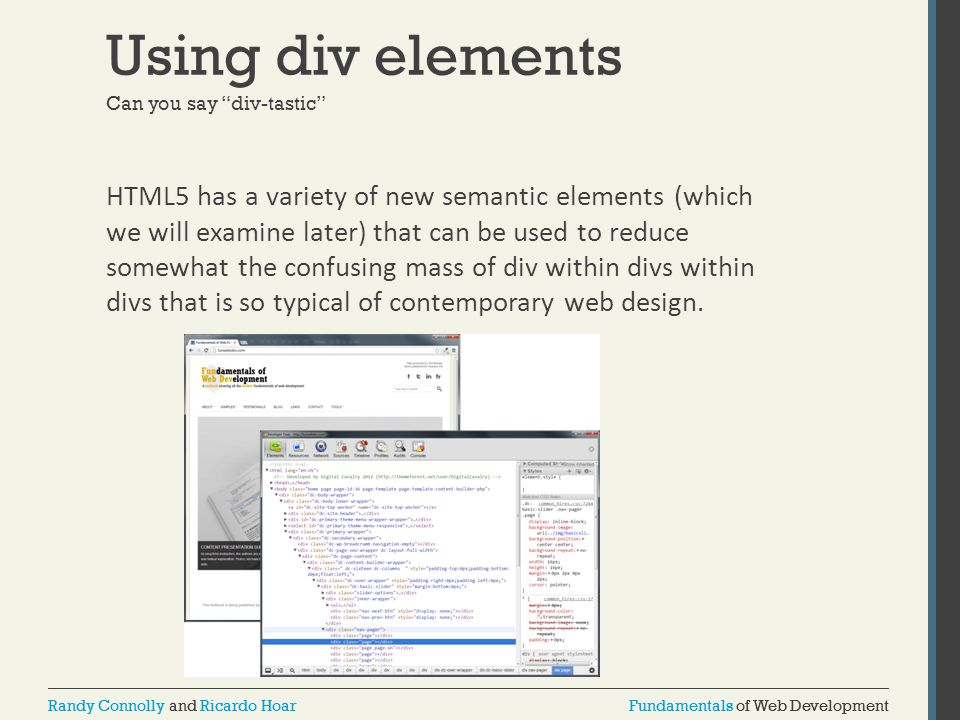Using div elements Can you say div-tastic