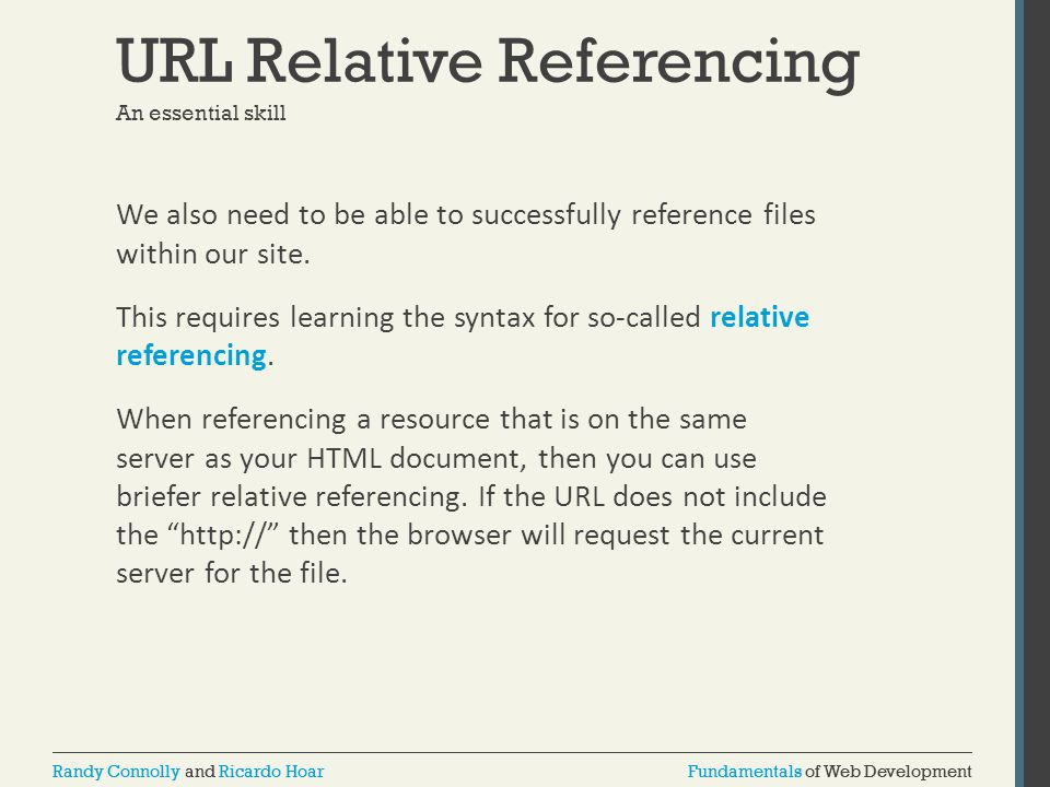 URL Relative Referencing