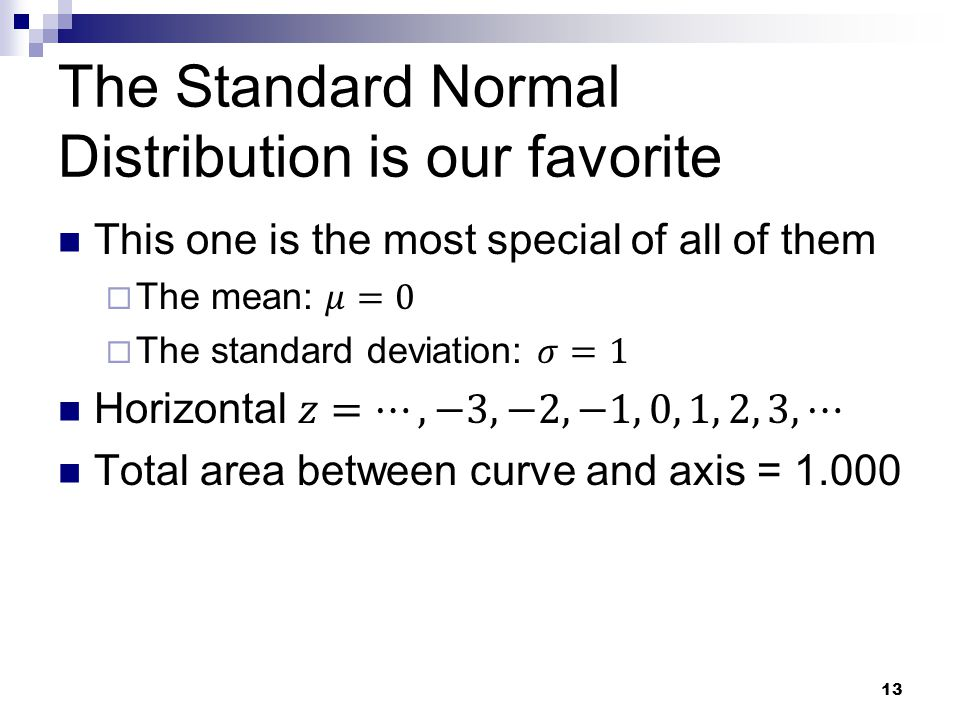 The Standard Normal Distribution is our favorite