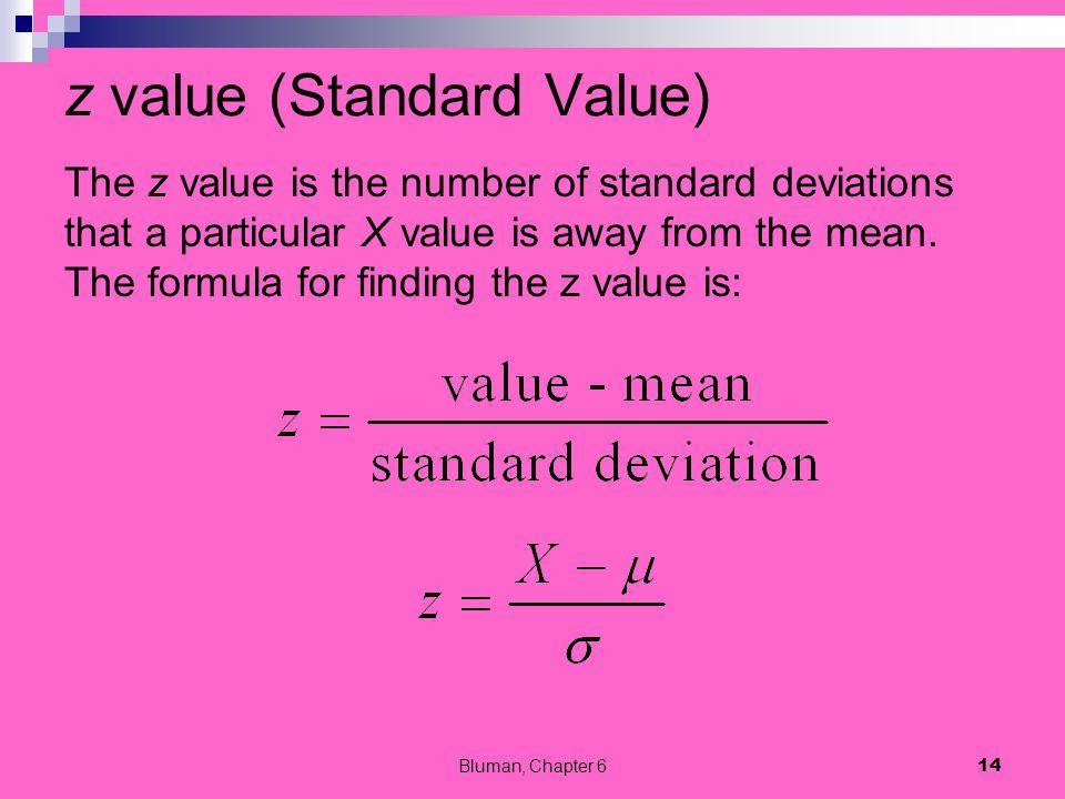 z value (Standard Value)