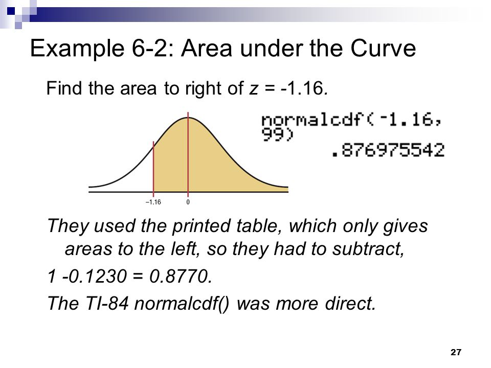 Example 6-2: Area under the Curve