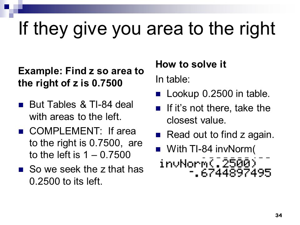 If they give you area to the right