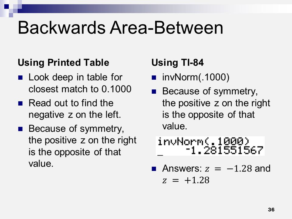 Backwards Area-Between