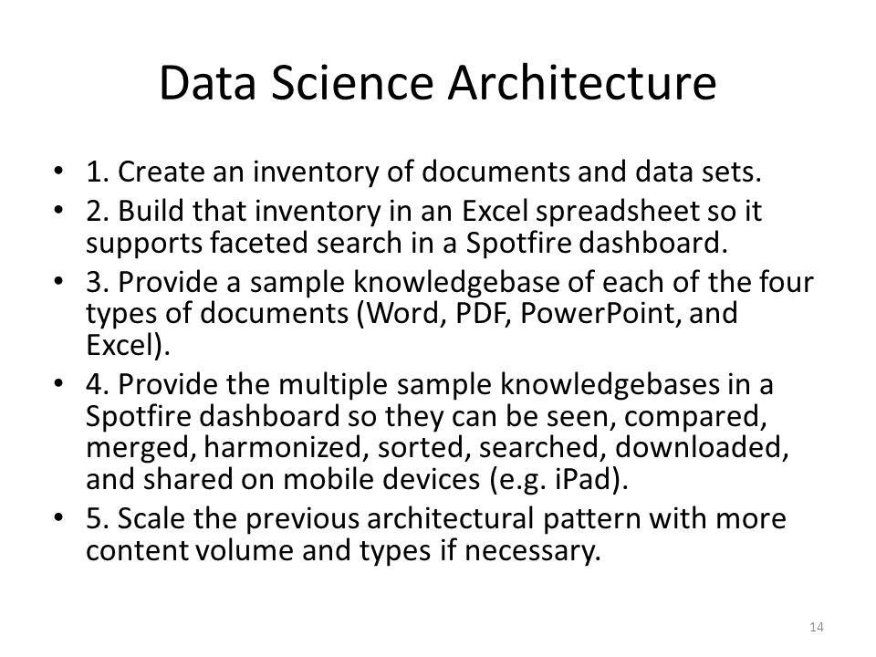 Data Science Architecture