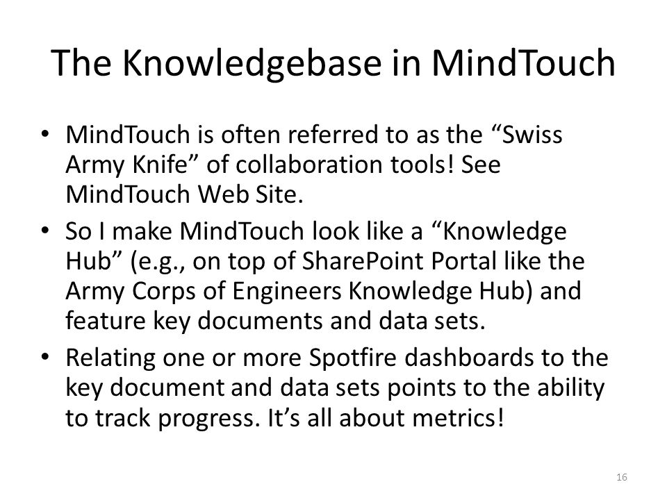 The Knowledgebase in MindTouch