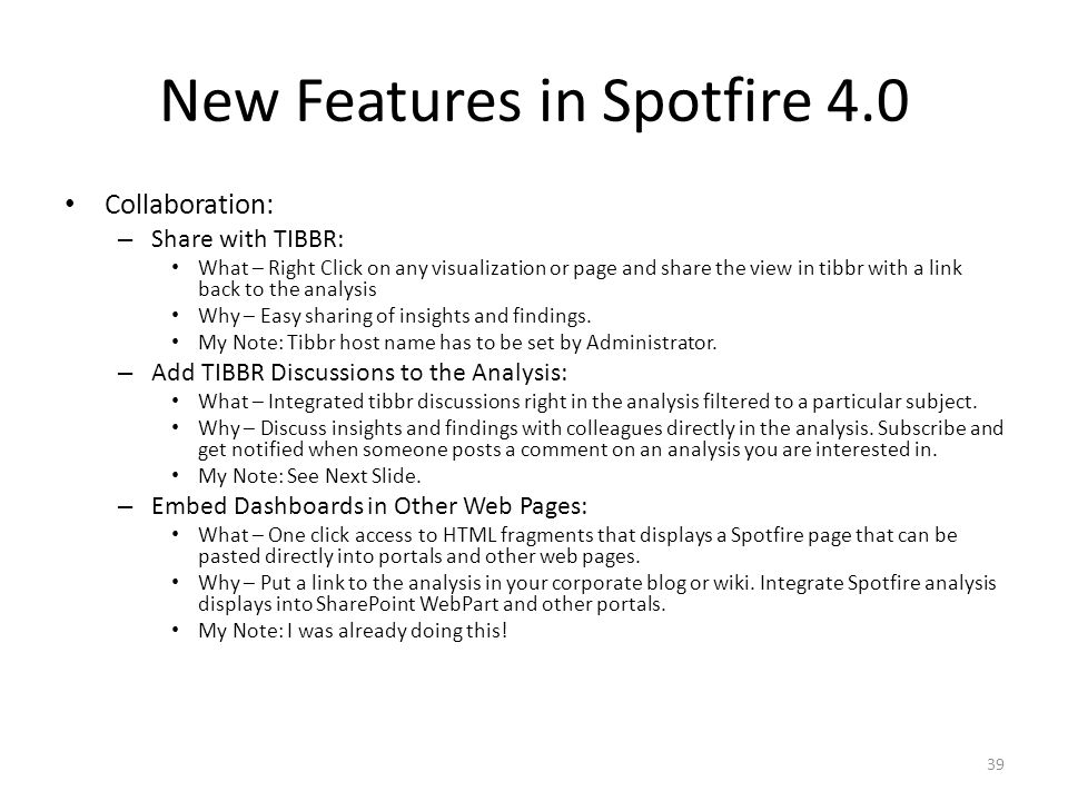 New Features in Spotfire 4.0