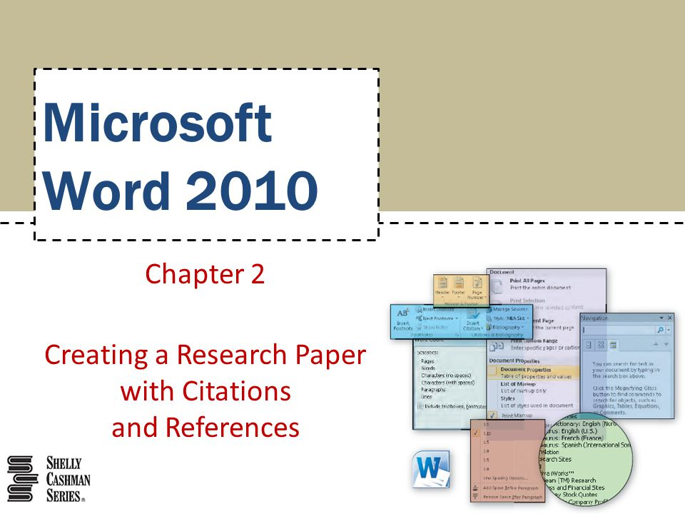 Creating a Research Paper with Citations and References   ppt     Elsevier