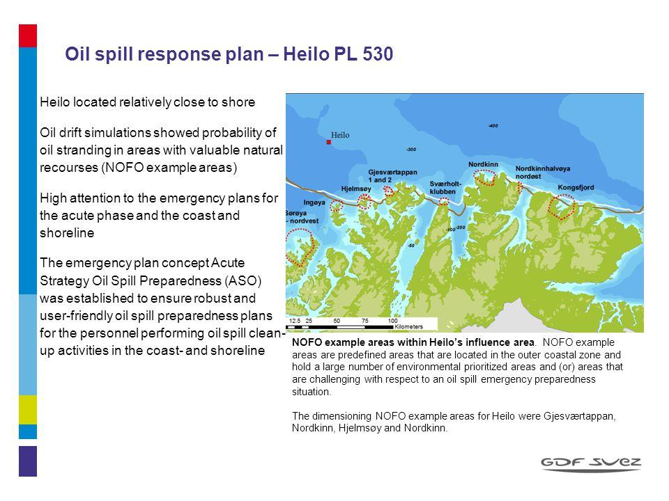 Oil spill response plan – Heilo PL 530