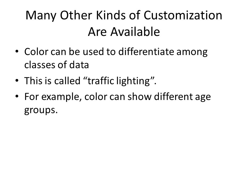 Many Other Kinds of Customization Are Available