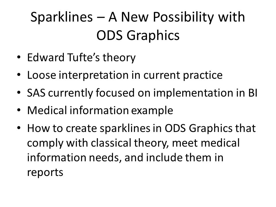 Sparklines – A New Possibility with ODS Graphics