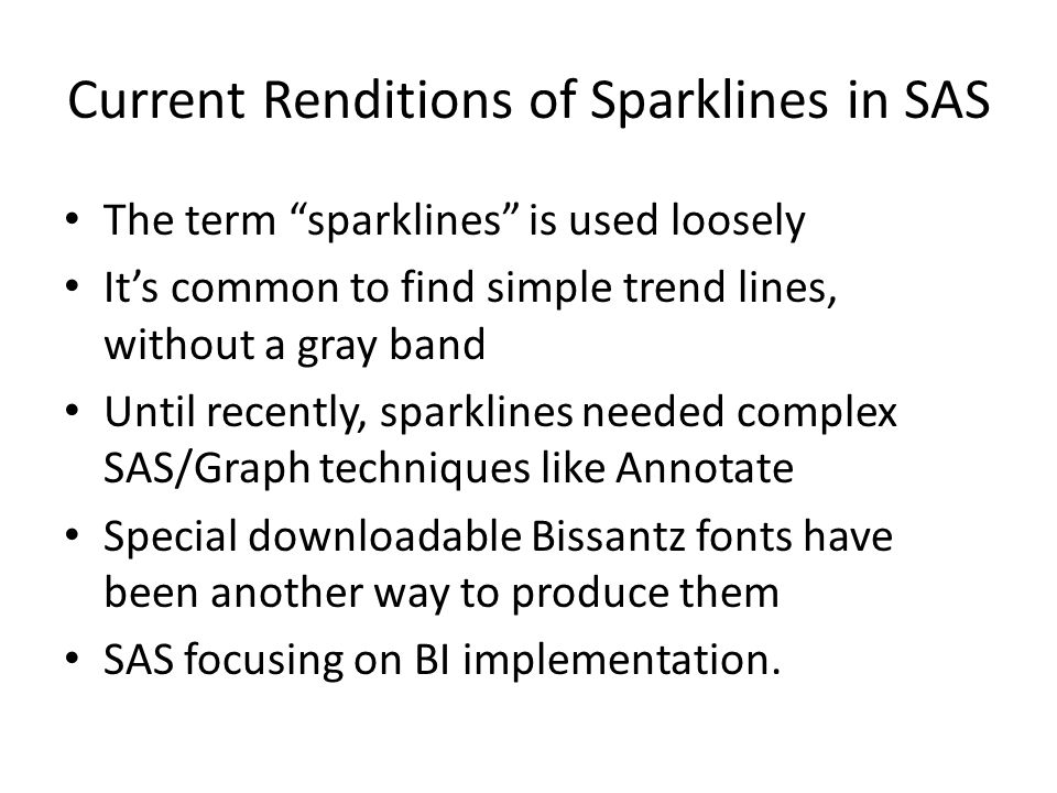 Current Renditions of Sparklines in SAS