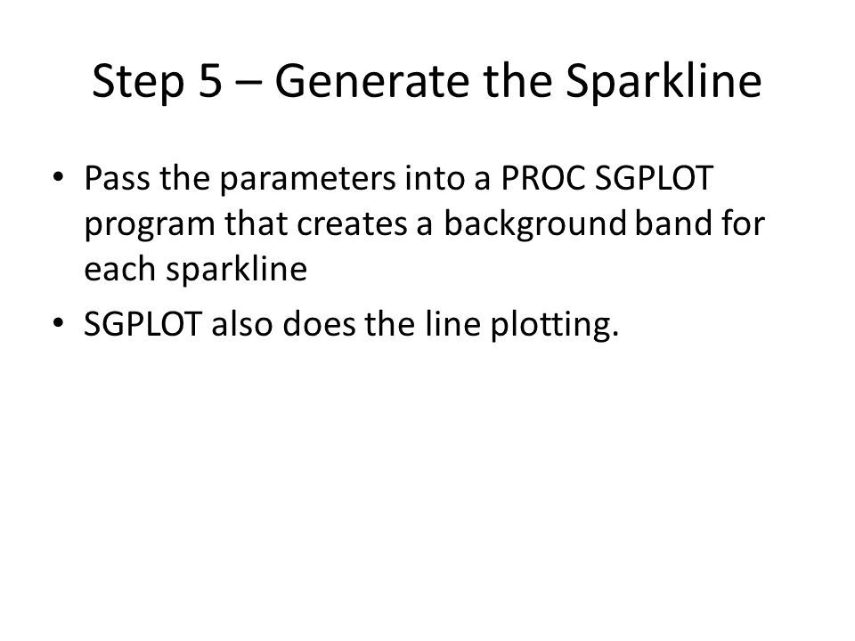 Step 5 – Generate the Sparkline