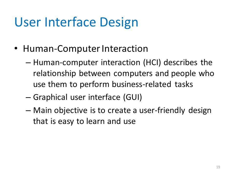 User Interface Design Human-Computer Interaction