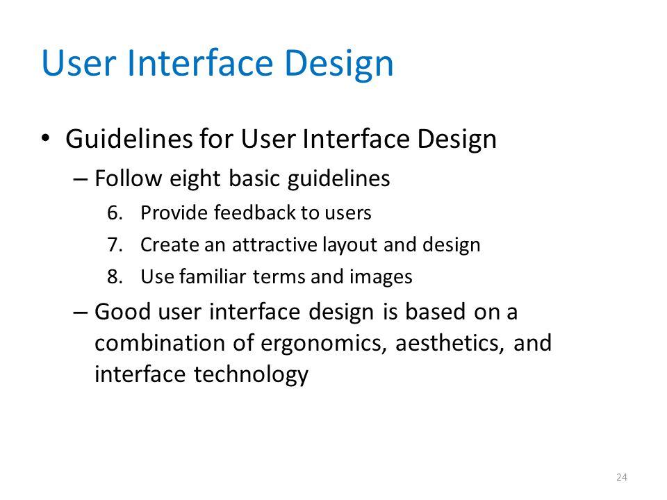 User Interface Design Guidelines for User Interface Design