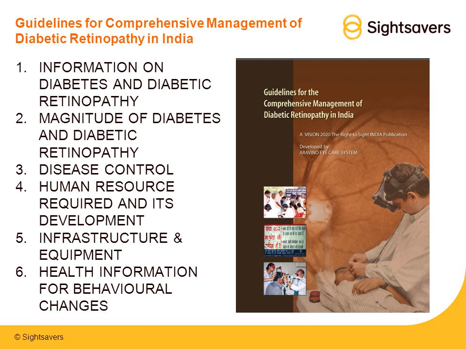 INFORMATION ON DIABETES AND DIABETIC RETINOPATHY