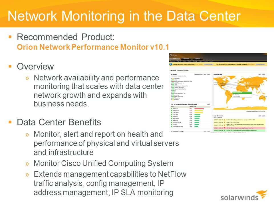 Network Monitoring in the Data Center