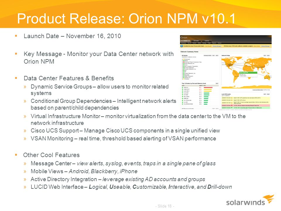 Product Release: Orion NPM v10.1