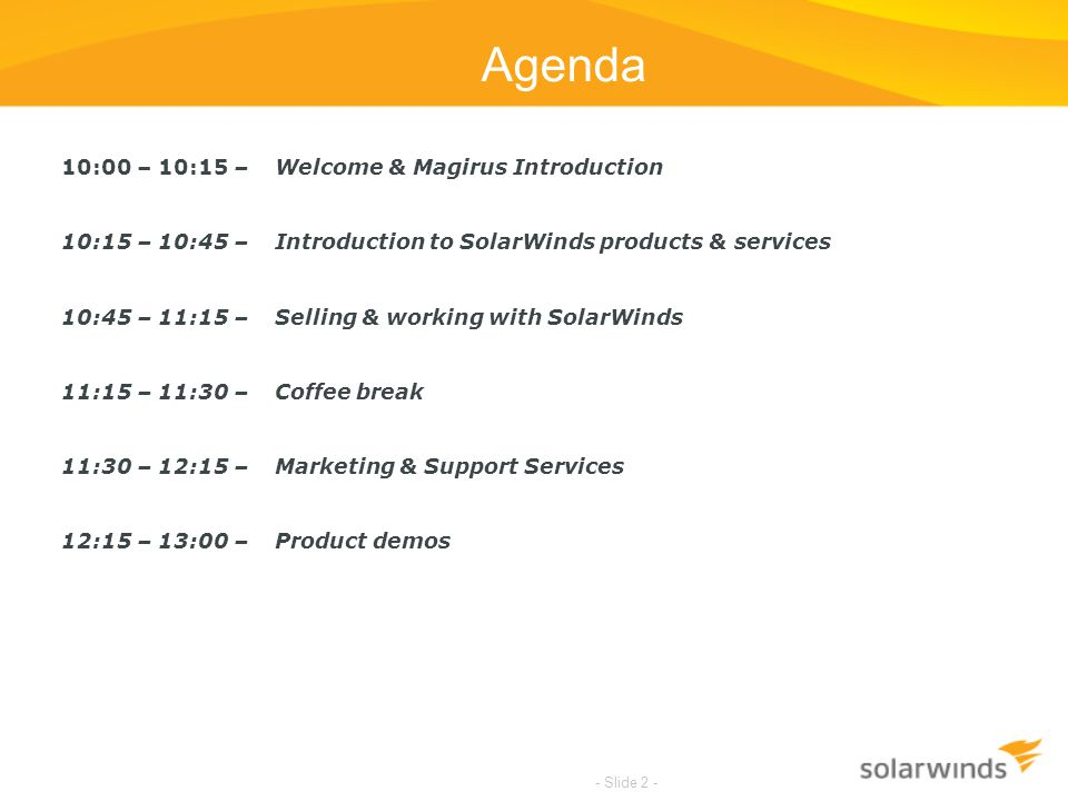 Agenda 10:00 – 10:15 – Welcome & Magirus Introduction