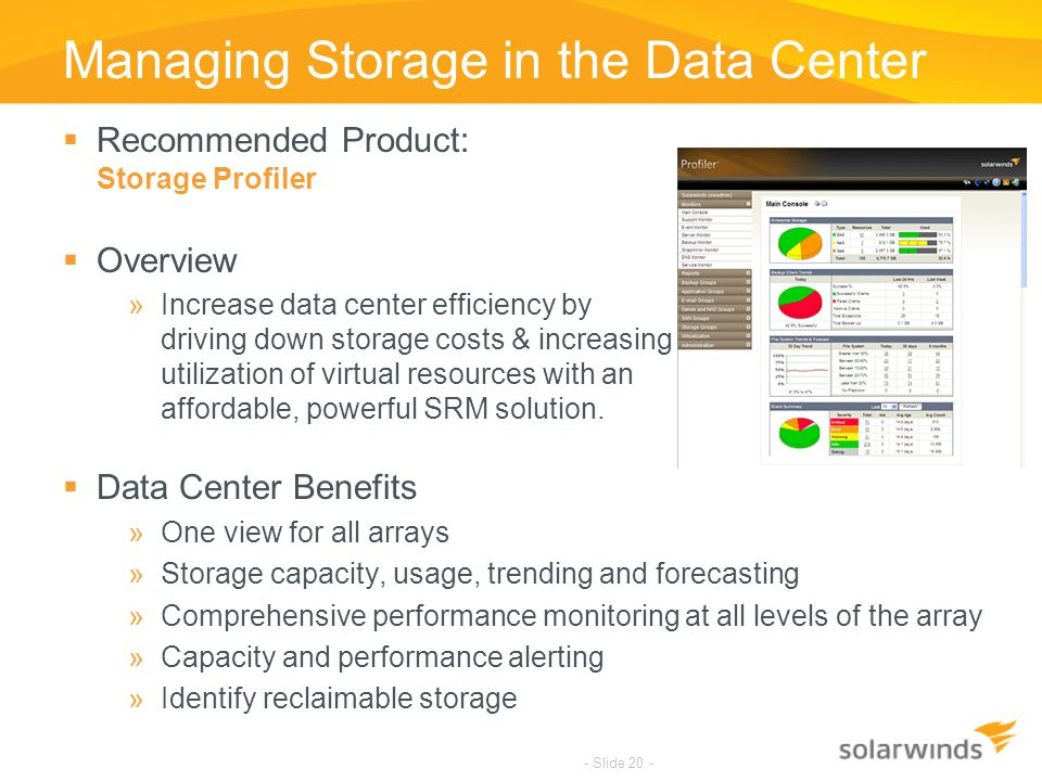 Managing Storage in the Data Center