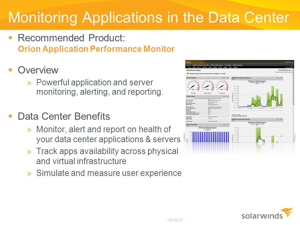 Monitoring Applications in the Data Center