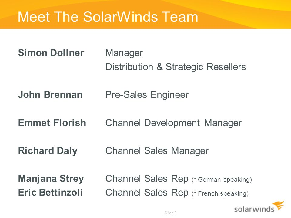 Meet The SolarWinds Team