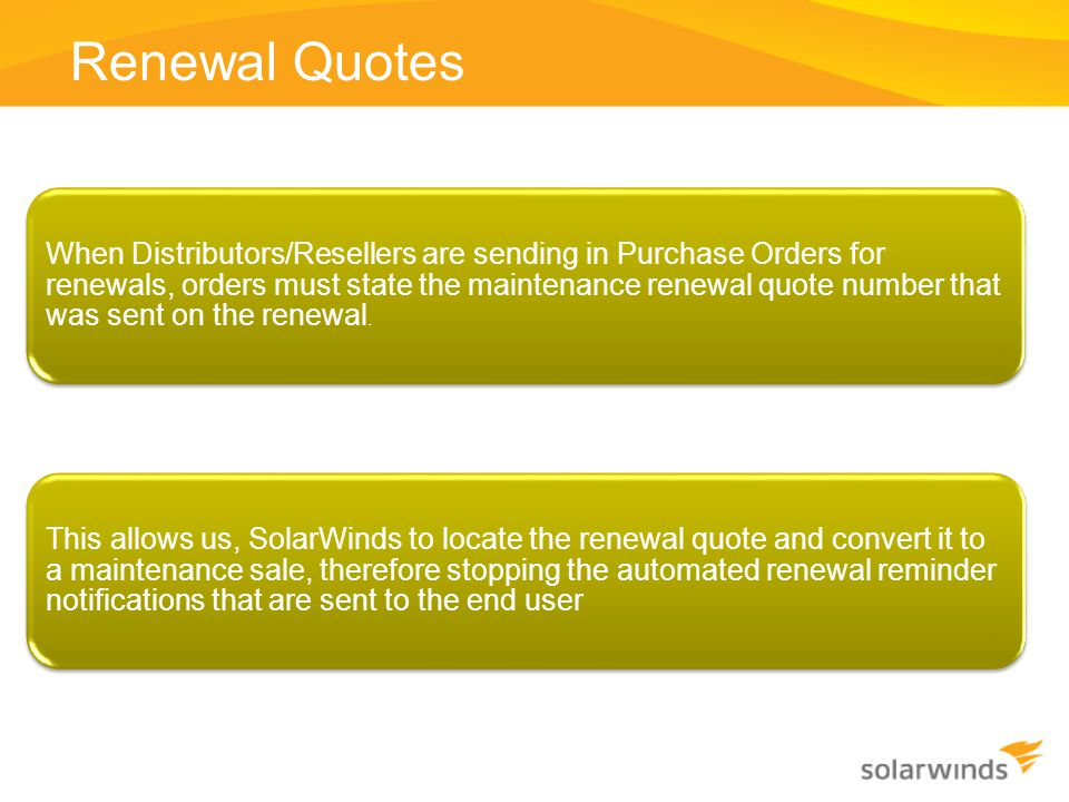 Renewal Quotes