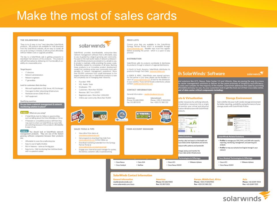 Make the most of sales cards