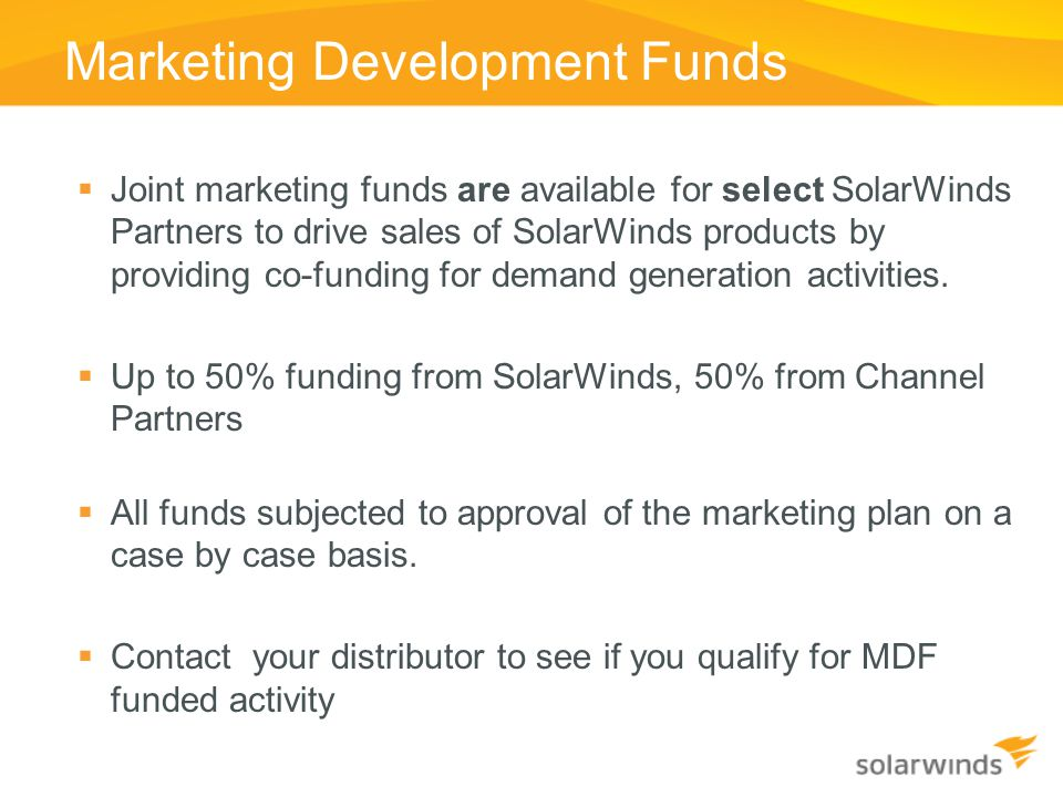 Marketing Development Funds