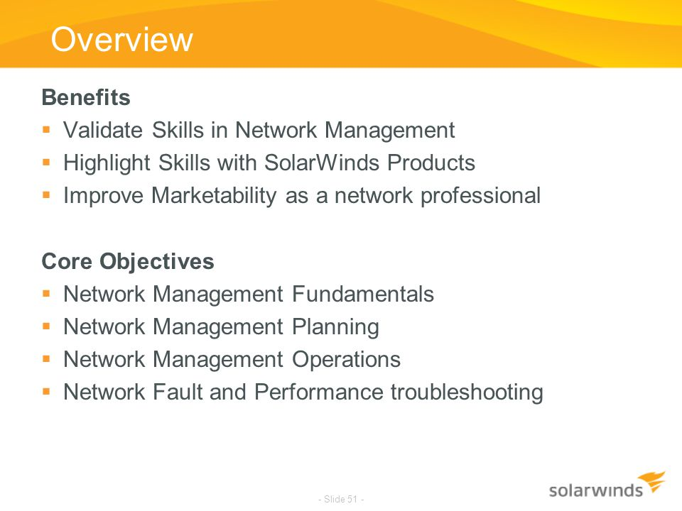Overview Benefits Validate Skills in Network Management
