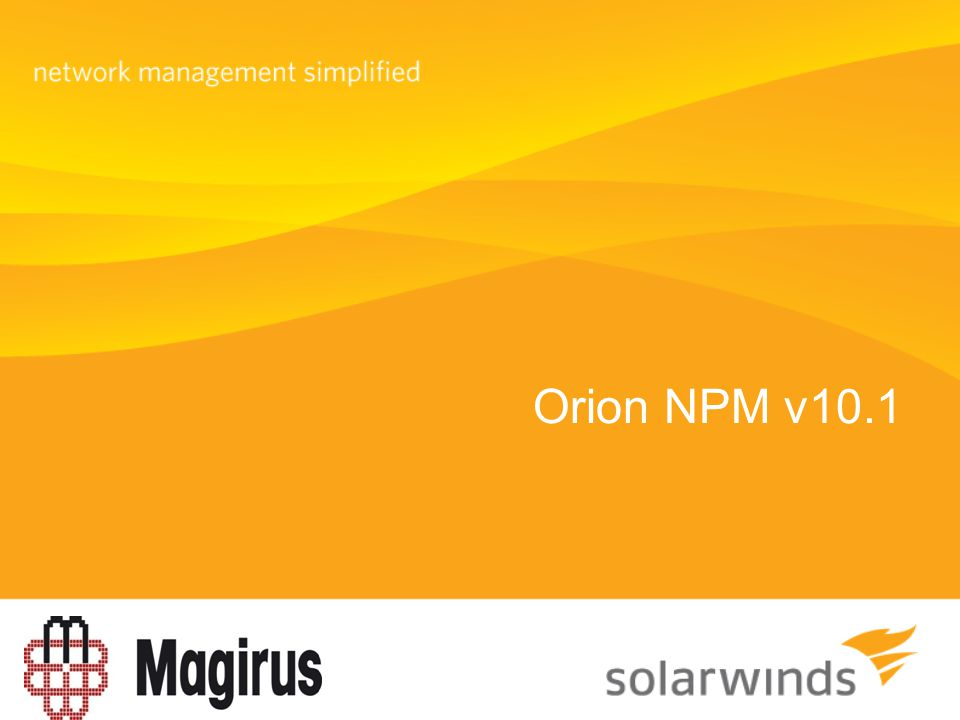 Orion NPM v10.1