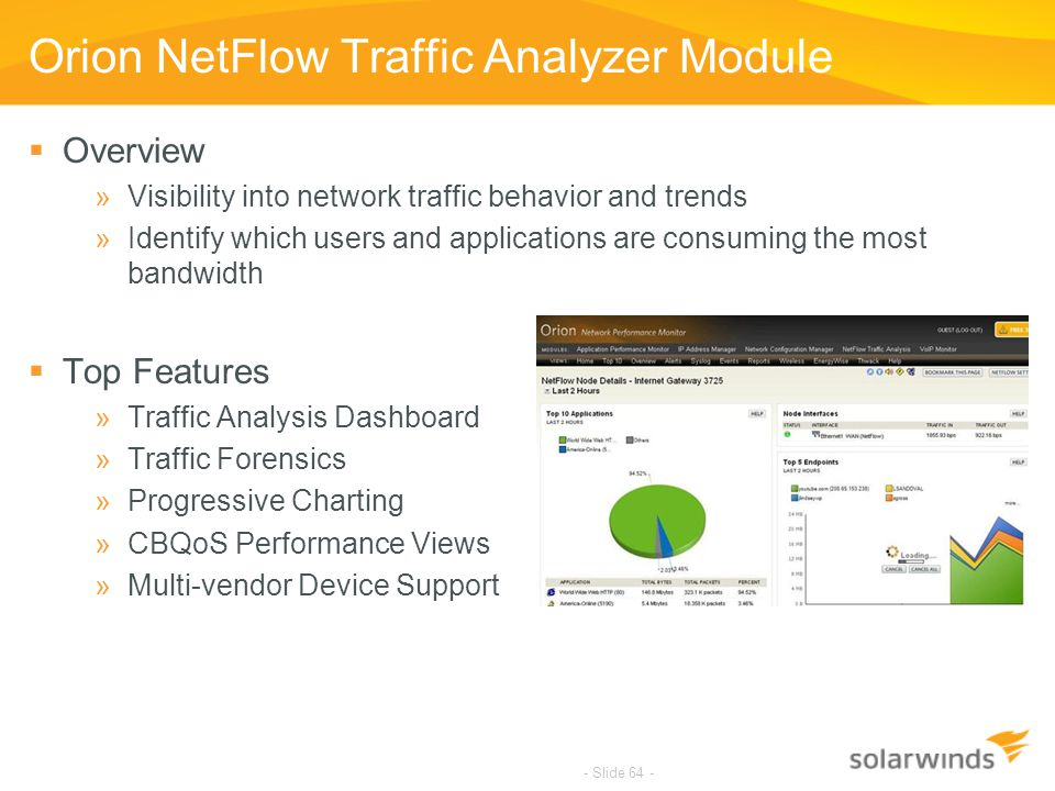 Orion NetFlow Traffic Analyzer Module