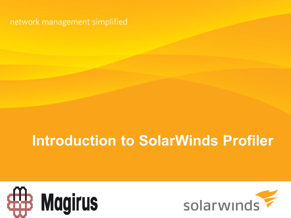 Introduction to SolarWinds Profiler