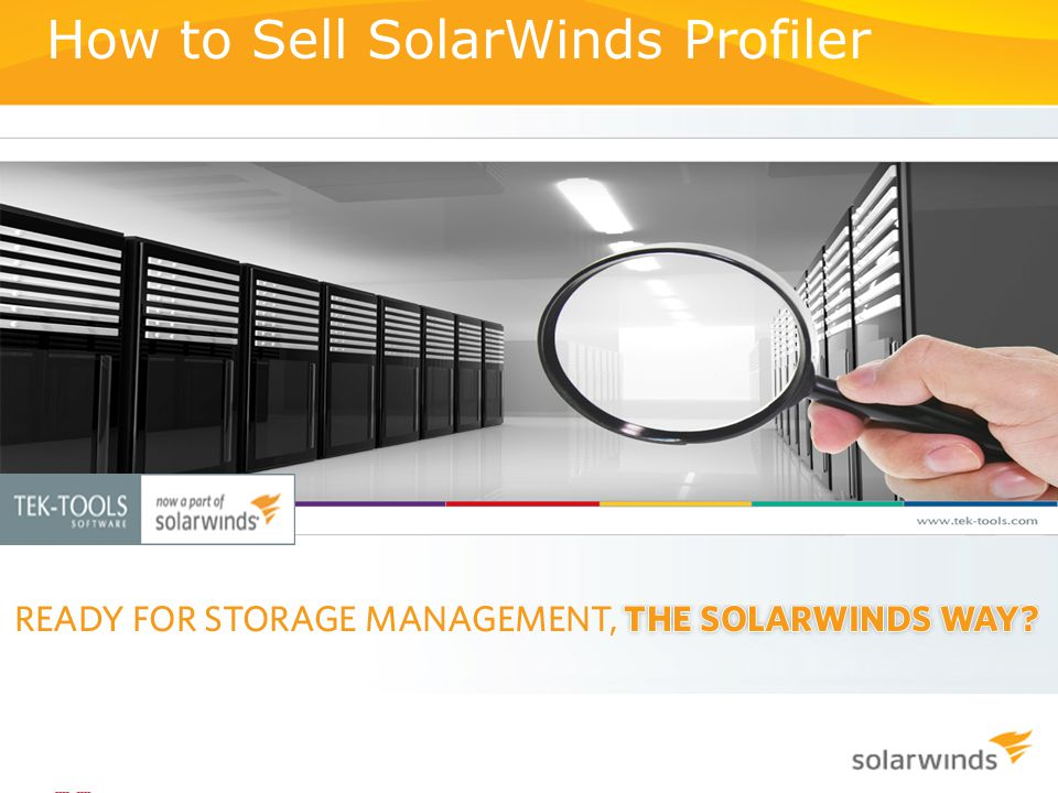 How to Sell SolarWinds Profiler