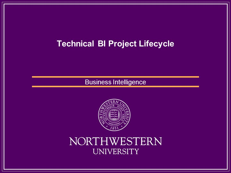 Technical BI Project Lifecycle