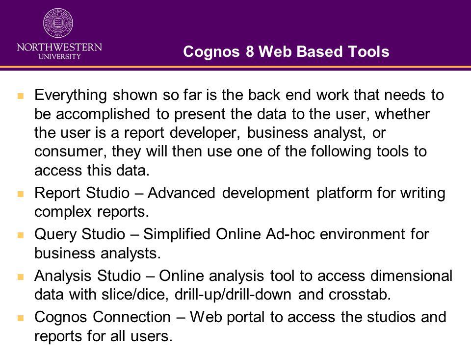 Cognos 8 Web Based Tools